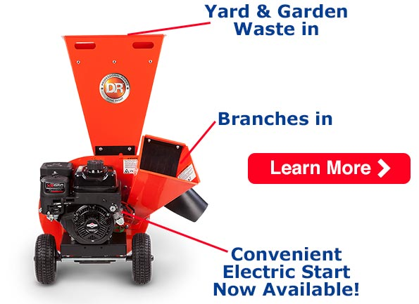 Learn more about the New DR Electric Start 9.5 Chipper